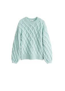 MANGO - Pullover mit zopfmuster