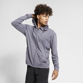 Nike - Dri-FIT Men's Full-Zip Yoga Training Hoodie - Blue