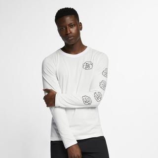 Nike - Dri-FIT Nathan Bell Men's Long-Sleeve Running T-Shirt - Cream