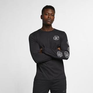 Nike - Dri-FIT Nathan Bell Men's Long-Sleeve Running T-Shirt - Black