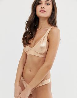 Minimale Animale - Isle - Bikinioberteil in Gold - Gold