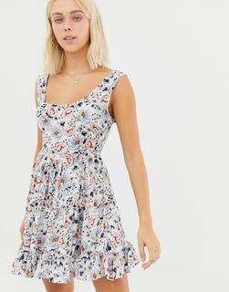 Glamorous - Geblümtes Kleid - Weiß