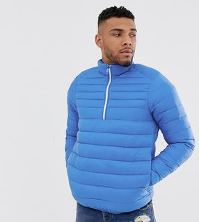 Pull&Bear - lightweight overhead quilted jacket in blue