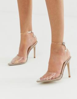 ASOS DESIGN - Pixie pointed high heels with studs