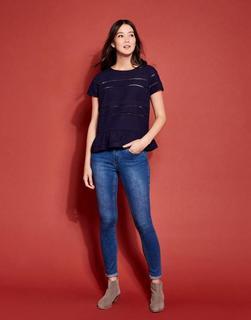 Joules Clothing - French Navy Primrose Peplum T-Shirt  Size 12