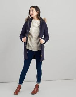 Joules Clothing - Marine Navy Wooldith Wool Parka  Size 10