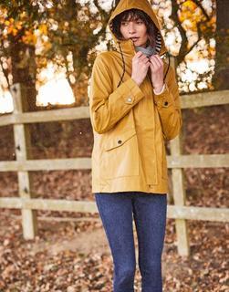 Joules Clothing - Mustard Sailaway Short Waterproof Raincoat  Size 8