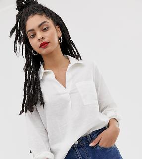 New Look - Weißes Leinenhemd