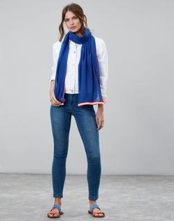 Joules Clothing - Ultramarine Peybury Plain Scarf With Tape Edges  Size One Size