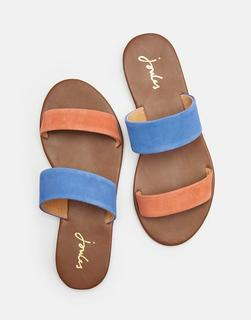 Joules Clothing - Coral Fenthorpe Two Strap Leather Sandals  Size Adult 4