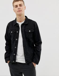 Brave Soul - slim fit denim jacket in black wash
