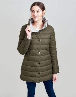 Joules Clothing - Grape Leaf Wroxham Large Collar Reversible Padded Coat  Size 14