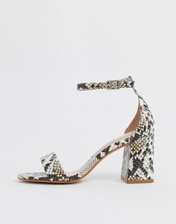 ALDO - Eteisa block heeled sandals in snake