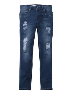 Men Plus - Destroyed Jeans Slim Fit Men Plus Blue stone