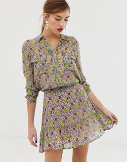 Custom Made - Custommade Athalie shirt in snake print