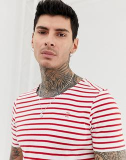 G-Star - Xartto stripe t-shirt in red