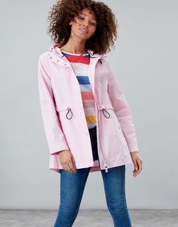 Joules Clothing - Pale Pink Victoria Showerproof Rain Coat  Size 10