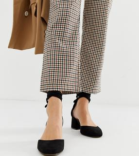 ASOS DESIGN - Wide Fit Windmill tie leg mid heels