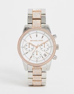 MICHAEL KORS - MK6651 Ritz - Armbanduhr, 37 mm - Silber