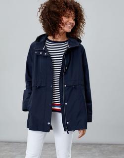 Joules Clothing - Marine Navy Victoria Showerproof Rain Coat  Size 10