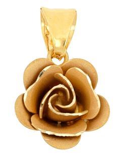 Grazielli - Blüten-Anhänger in Gelbgold Grazielli Gold