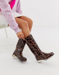 ASOS DESIGN - Gifted wellies in leopard