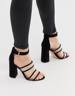 London Rebel - clear strap heeled sandals