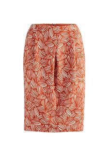 hessnatur - Damen Rock aus Bio-Baumwolle – orange – Größe 36