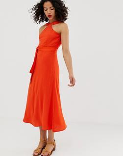 Vero Moda - high neck tie waist maxi dress
