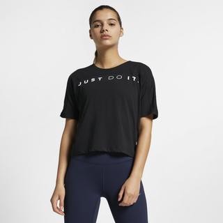 Nike - Dri-FIT Miler Women's Short-Sleeve Running Top - Black