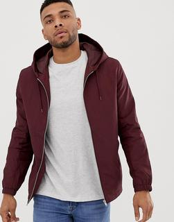 ASOS DESIGN - hooded coach jacket in burgundy