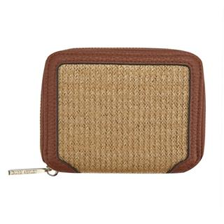 Laura Ashley - Natural Straw Small Zip Purse