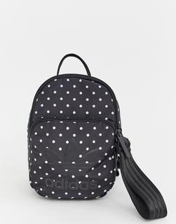 adidas Originals - mini backpack in black and white spots