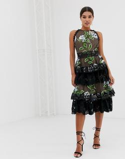 Bronx and Banco - Bronx & Banco Bridget ruffle midi dress