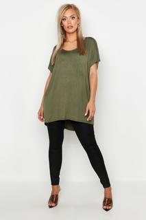 boohoo - Plus Übergroßes T-Shirt