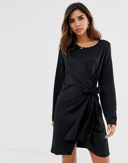 Vila - faux wrap shift dress