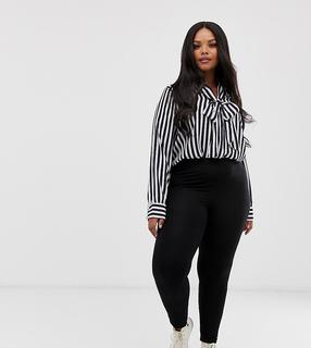 ASOS Curve - ASOS DESIGN Curve high waisted leggings in black