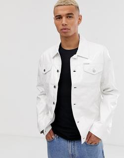 Calvin Klein - Jeans vinyl trucker jacket