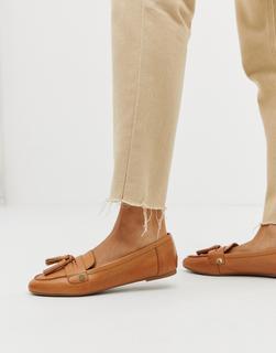 ALDO - Yeliviel leather tassel trim loafer