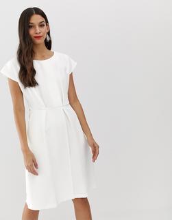 Closet London - Closet - Weißes Kimono-Kleid mit Wickeldesign - Weiß