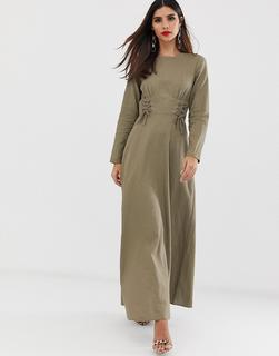 ASOS DESIGN - maxi dress with tie waist
