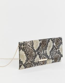 Accessorize - Kelly snake print clutch bag