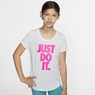 Nike - Dri-FIT Older Kids' (Girls') Training T-Shirt - White