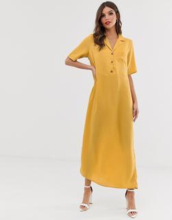Vero Moda - minimal midi shirt dress