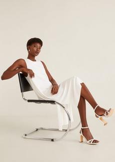 MANGO - Sandalen mit kroko-effekt