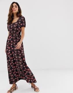 Vero Moda - square neck paisley print maxi dress