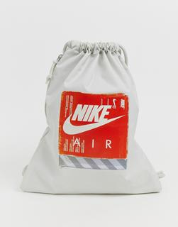 Nike - air grey 90s drawstring bag