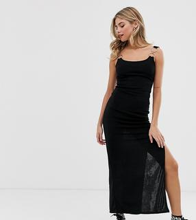 Another Reason - fitted midi dress with ring detail