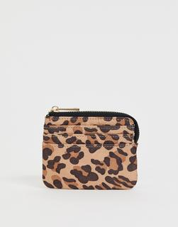 ASOS DESIGN - leopard print coin purse