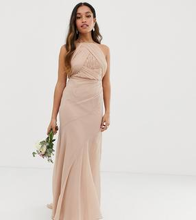 ASOS Petite - ASOS DESIGN Petite Bridesmaid pinny bodice maxi dress with fishtail skirt